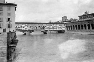 The Ponte Vecchio in Florence, 1909 by Scherl Süddeutsche Zeitung Photo