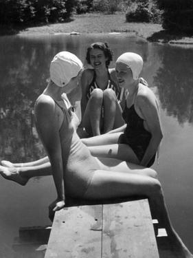 Women at a Lake, 1938 by Scherl Süddeutsche Zeitung Photo