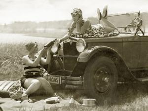 Women at a Picnic, 1928 by Scherl Süddeutsche Zeitung Photo