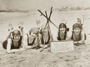 Women on a Beach in California, 1927 by Scherl Süddeutsche Zeitung Photo