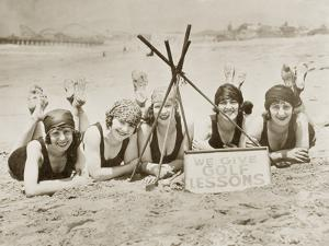 Women on a Beach in California, 1927 by Scherl Süddeutsche Zeitung Photo