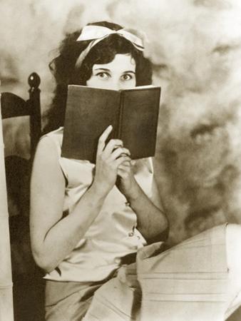 Young Girl Reading by Scherl Süddeutsche Zeitung Photo