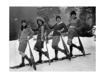 Wintersportmode für Frauen, 1926