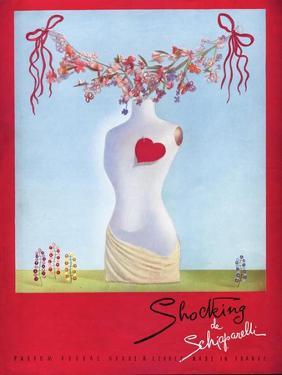 Schiaparelli Shocking, Hearts Surrealism Art, UK, 1930