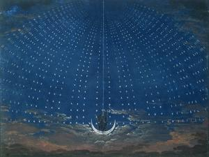 The Palace of the Queen of the Night, Set Design for 'The Magic Flute' by Wolfgang Amadeus Mozart by Schinkel