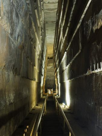 Grand Gallery Inside the Great Pyramid of Khufu, Giza, Egypt