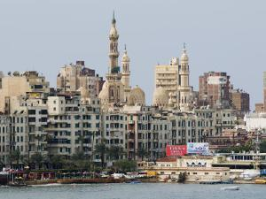 Waterfront and Al-Mursi Mosque, Alexandria, Egypt, North Africa, Africa by Schlenker Jochen