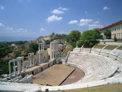 Roman Theatre in the Town of Plovdiv in Bulgaria, Europe