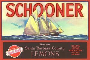 Schooner Lemon Label