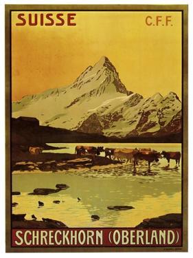 Schreckhorn Oberland Swiss 1906