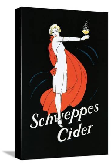 Schweppes Cider--Stretched Canvas Print