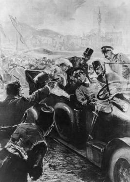 Archduke Franz Ferdinand and His Wife Assassinated in Sarajevo by Schwormstaedt