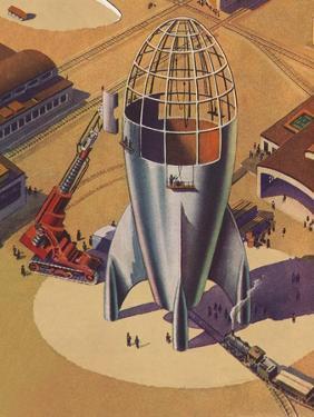 Sci Fi - Building Rocket Ship, 1948