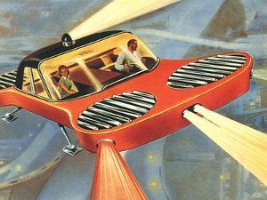 Sci Fi - Futuristic Automobile, 1958