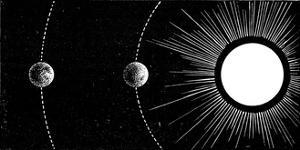 Earth-Venus Conjunction, 19th Century by Science Photo Library