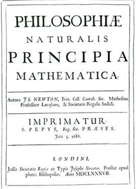 Frontispiece of 1st Edition of Newton's Great Work by Science Photo Library