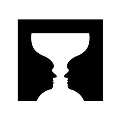 Goblet Illusion by Science Photo Library