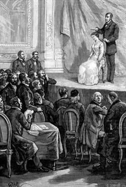 Hypnosis Demonstration, 19th Century by Science Photo Library