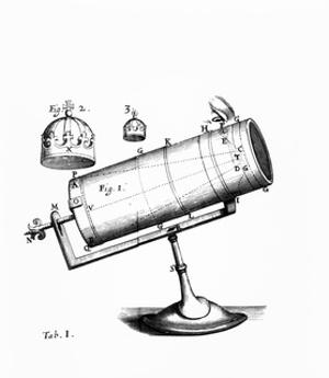 Isaac Newton's Design for a Reflecting Telescope by Science Photo Library