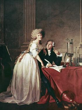 Lavoisier And His Wife, 1788 by Science Photo Library