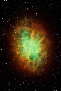 Artwork of the Crab Nebula (M1) by Science Photo Library - MARK GARLICK