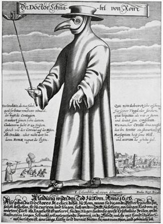 Plague Doctor, 17th Century Artwork by Science Photo Library