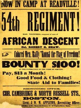 54th Regiment Recruiting Poster, 1863 by Science Source