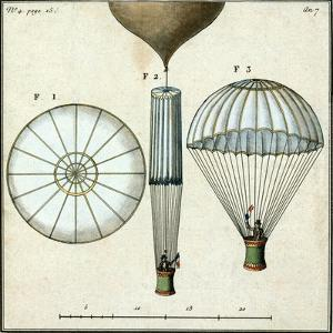 André-Jacques Garnerin's Parachute, 1797 by Science Source
