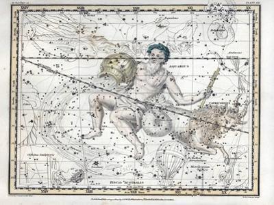 Aquarius and Capricornus, Zodiac, 1822 by Science Source