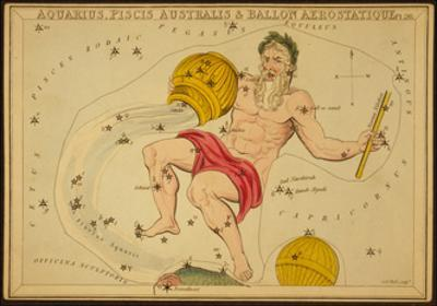Aquarius Constellation, Zodiac Sign, 1825 by Science Source
