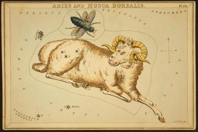 Aries Constellation, Zodiac Sign, 1825 by Science Source