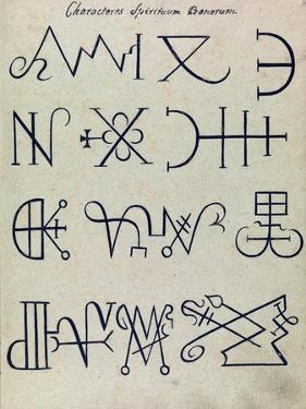 Cabbalistic Signs and Sigils, 18th Century by Science Source