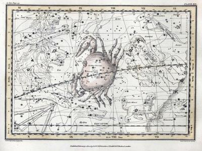 Cancer Constellation, Zodiac, 1822 by Science Source