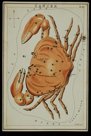Cancer Constellation, Zodiac Sign, 1825 by Science Source
