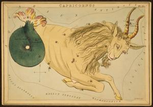 Capricornus Constellation, Zodiac Sign, 1825 by Science Source