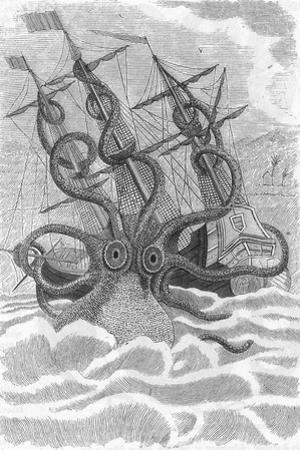 Colossal Octopus Attacking Ship, 1801