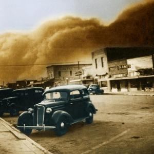Dust Bowl of the 1930's, Elkhart, Kansas by Science Source