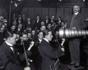Edward Elgar Recording Session, 1914 by Science Source