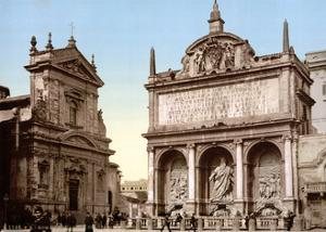Fontana dell'Acqua Felice, 1890s by Science Source