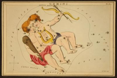 Gemini Constellation, Zodiac Sign, 1825 by Science Source