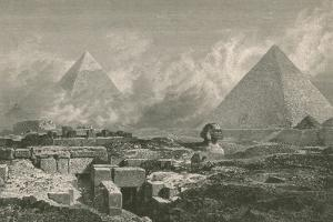 Giza Pyramids and Sphinx, 1878 by Science Source