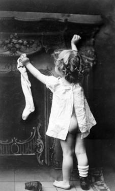 Hanging Christmas Stocking, 1901 by Science Source