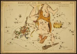Hercules and Corona Borealis Constellations, 1825 by Science Source