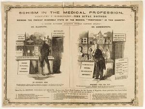 Homeopathy vs. Allopathy, Caricature, 1800s by Science Source