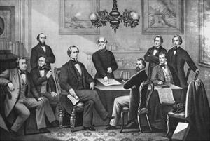 Jefferson Davis, Cabinet of the Confederate States by Science Source