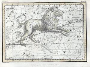 Leo Constellation, Zodiac, 1822 by Science Source