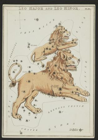 Leo Major and Leo Minor Constellations, 1825 by Science Source