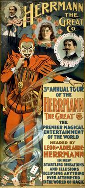Leon and Adelaide Herrmann, French Magicians by Science Source