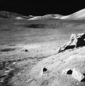 Lunar landscape, Apollo 17 Mission by Science Source