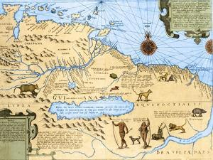Map of El Dorado and the Amazon, 16th Century by Science Source